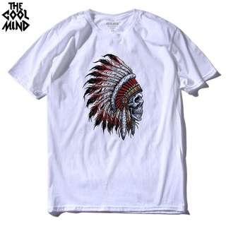 [preorder] colourful red indian short sleeve tee