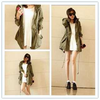 SALE Army Green Parka