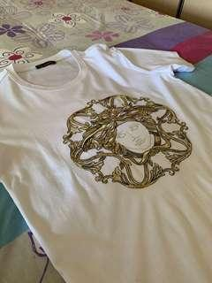 (Final Price) Versace Mainline Embroidered Medusa T-shirt