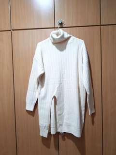 🚚 質感超厚長版開衩韓版高領衣