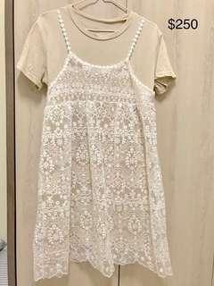 🚚 蕾絲兩件式洋裝