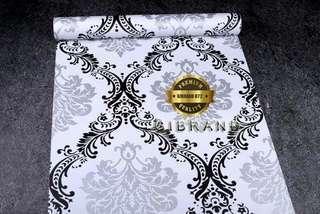 Wallpaper Dinding Vintage Black & White