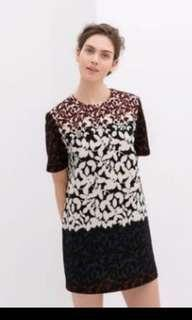 Zara printed shift dress