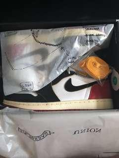 🚚 Air Jordan 1 Retro Hi NRG x Union LA (Black Toe)