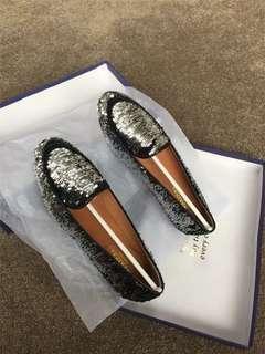 Aquazurra sequin shoes flats size 39 New Chanel Hermès givenchy lanvin roger vivier