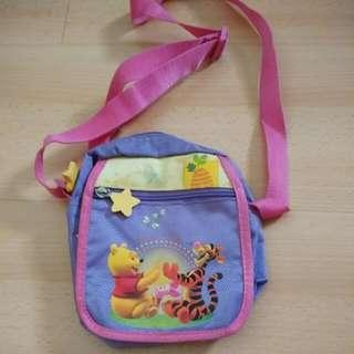PRE-LOVED WINNIE THE POOH SLING POUCH (Lightly Used, Good Condition)