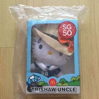 SG50 Hello Kitty Trishaw Uncle (Brand New In Bag)