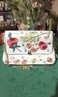 Topshop floral embroidred clutch bag