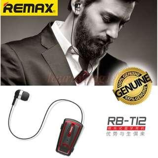 ★Original★ Remax RB-T12 Clip-On Bluetooth Earpiece Headset Headphone Apple Android Phone