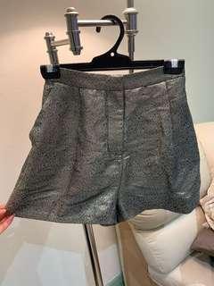Zimmermann Metallic Gold Shorts (2)