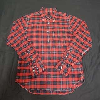 Muji 無印良品 格子襯衫 紅 M $399