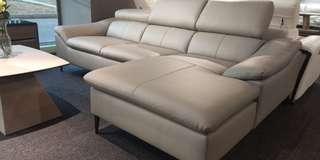 Italian leather L sofa