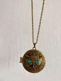 Brass Necklace (owl )