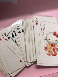 Hello kitty poker cards