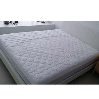 Queen Size Slatted Bed and Mattress