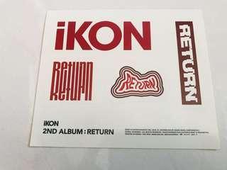 [OFFICIAL] iKON RETURN Sticker