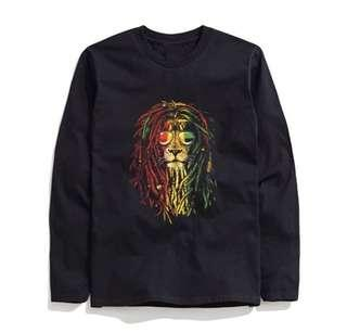 [preorder] colourful lion mane loong sleeve tee