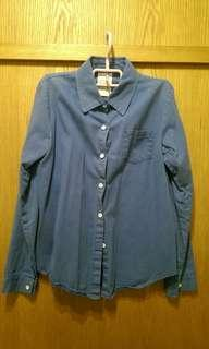 單寧襯衫 藍色 Free Size #半價衣服拍賣會