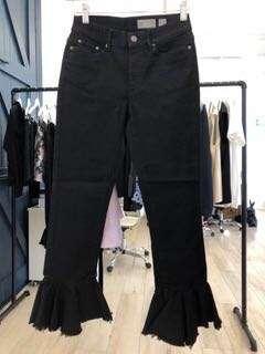 Black Flared Bottom Jeans