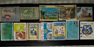 Malaysia Stamps 1953 - 1980 (23 pieces)