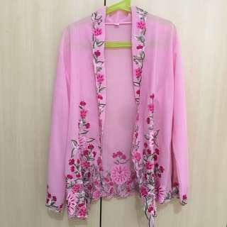 Lovely Pink Peranakan Blouse