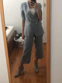 Linen Jacket & Pants Set