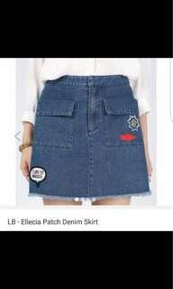 Love Bonito Ellecia Patch Denim Skirt