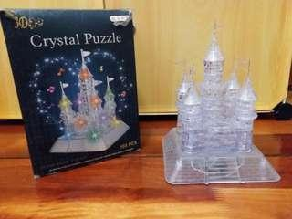 Fully builed crystal puzzle castle