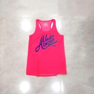under armour tank top ; pink and blue