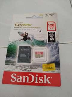 Scandisk extreme 128gb memory card