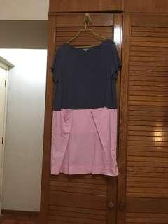 cos pink/gray dress