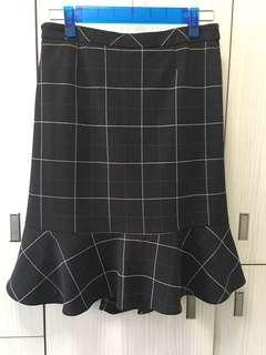 格仔半截裙