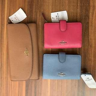 [BNIP] Coach Authentic Leather Zip / Checkbook Wallet F11484 F16613