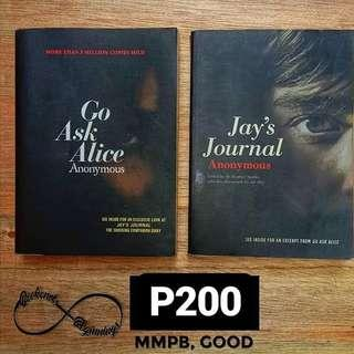 Go Ask Alice and Jay's Journal (set)