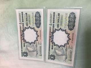🚚 1959 Malaya & British Borneo $1