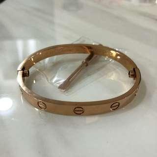 Cartier Love Bangle Bracelet (Rose Gold)