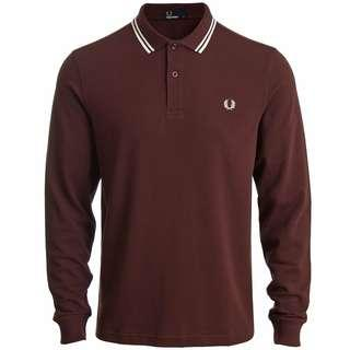 Fred Perry Long Sleeve Polo (Stadium Red)