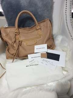 Balenciaga Outline Gold City Bag