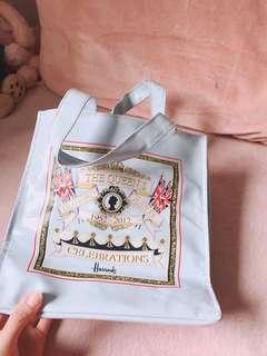 Harrods blue bag shopping bag small