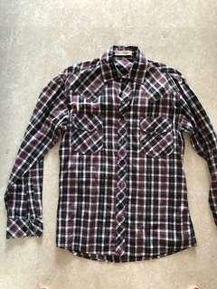 🚚 Bn Vintagefb checkered shirt