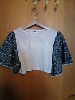 Cropped summer shirt