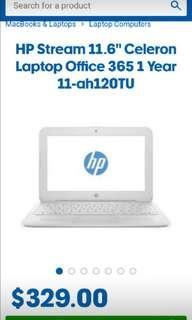 HP Celeron 11.6 inch laptop