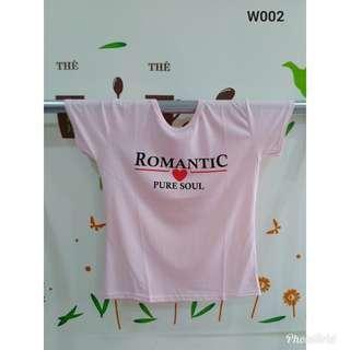 全新商品 T恤LOGO字樣ROMANTIC(粉)