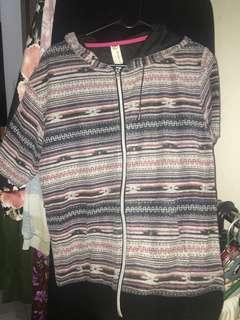 Pattern hoodie tribal