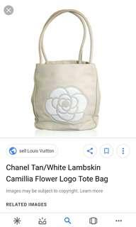 Chanel flower tote