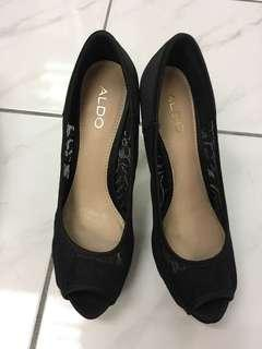 Aldo Black High Heels with Lace