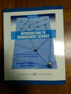 """""""Introduction to management science:a modeling and case studies approach with spreadsheets"""" 4th edition, 全新未用過。"""