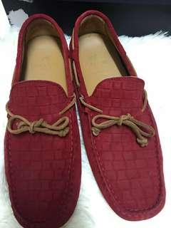 Sacoor Brothers Red Suede Loafer