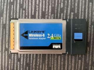 🚚 Linksys Wireless-G Notebook Adapter