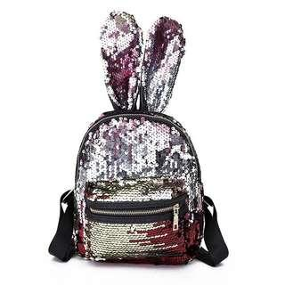 Tas  Backpack Bunny Anak Sequin